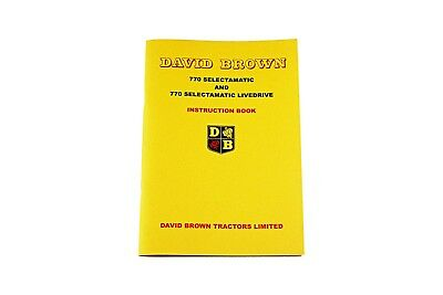 The David Brown Red 770 Selectamatic (1964) Instruction Book (TP617R)