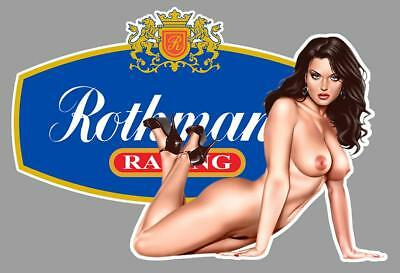ROTHMANS PIN UP  right Sticker droite