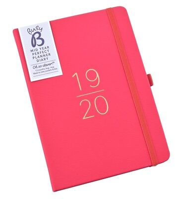 Busy B Academic Mid Year Diary 2019-20 Red Perfect Planner