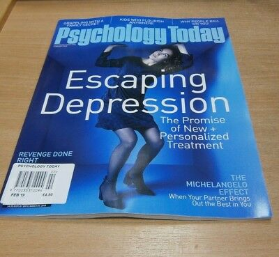 Psychology Today magazine FEB 2019 Escaping Depression, Revenge done Right &more