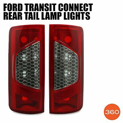 Ford Transit Connect 2009-2014 2x Rear Tail Lamp Light Lens Left Right Side