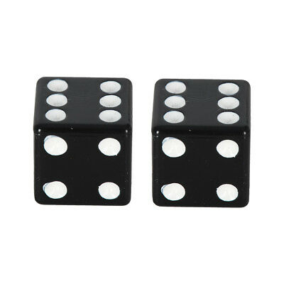 Oxford Anodised Alloy Motorcycle Tyre Valve Caps Pair Lucky Dice Black OX760 T