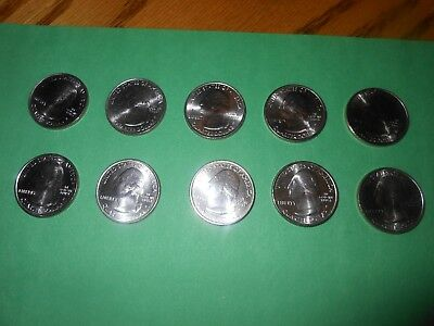 Set of Uncirculated 2011 P & D National Park Quarters (10) coins Brilliant Uncir