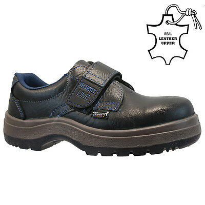 Mens Leather Velcro Steel Toe Cap Safety Work Hiker Trainers Shoes Boots Size