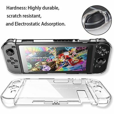 For Nintendo Switch Transparent Clear Shockproof Protective Case Cover Shell New