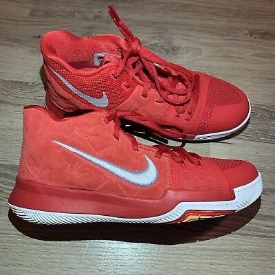 sports shoes fdfe9 410ac Nike KYRIE 3 GS Basketball Shoes University Red White Suede 859466 601 Size  6Y