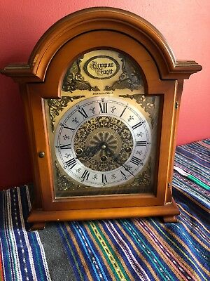 Vintage Hamilton Cathredral Style Westminster Chime Mantel Clock With Key As Is