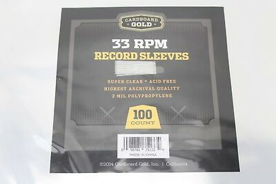 "100 Clear Poly Plastic Outer Sleeves For 12"" Vinyl Records 2 Mil 12 3/4"" x 13"""