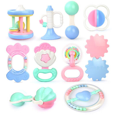 Safety Baby Kids Toddler Teether Hand Shake Bell Ring Funny Educational Toys US