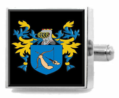 Select Gifts Jickling England Heraldry Crest Sterling Silver Cufflinks Engraved Box