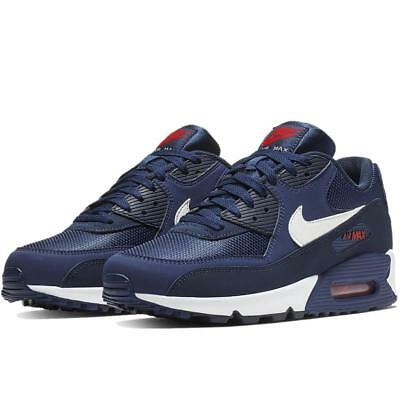 innovative design 325de 63ee8 Nike Air Max 90 Essential Aj1285 403 Midnight Navy Blue White University Red -