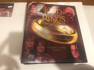 lord of the rings The Two Towers trading cards Set Plus Binder (no Foils)