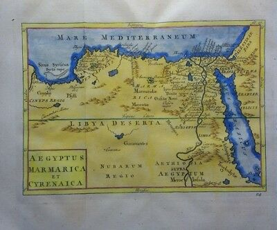 Antique Map of Egypt and North Africa by Christoph Cellarius 1764