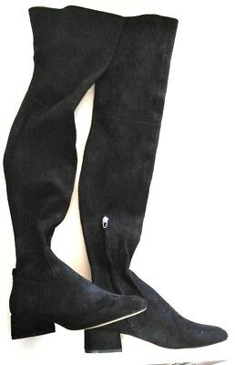 112835b92ed Dolce Vita Jimmy Black Stella Suede Over-The-Knee Boots Womens Shoes Size 6