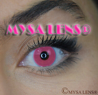CRAZY Coloured Contact Lenses Kontaktlinsen Halloween MYSA LENS Pink Out