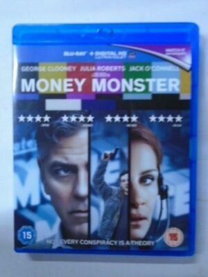 Money Monster BluRay  Clooney/Julia Roberts/Jack O'Connell  NEW & unsealed, P6