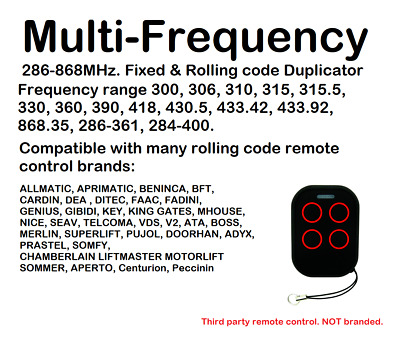 Multi-Frequency Fixed & Rolling code Remote Control Duplicator 280-868MHz.