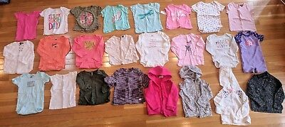 pants And Shirts Girls 24 Monthing Huge Clothing Lot 34 Pieces 6 Pj Sets