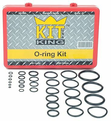 O Ring Kit Assortment Set, Assorted Buna-N, 70A Durometer, 382 Pieces, 30 O-r...