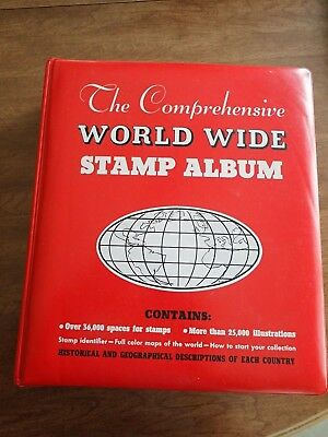 World Stamp Collection in Comprehensive Stamp Album