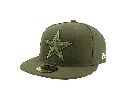 54c9e72c3d118 New Era 59Fifty Cap Mens NFL Dallas Cowboys Salute To Service Green Fitted  Hat