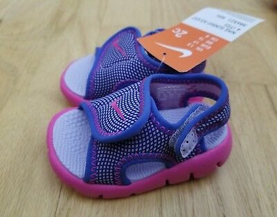 92f9921f2fed NEW NIKE BABY Sunray Protect Sandals Hydrangea Fire Pink Size 2 ...