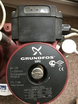Grundfos UPC/UPCD 40-120 Circulator Replacement Pump Head 240V 96406322 #1197