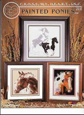 Cross My Heart Lot of 6 Counted Cross Stitch Patterns HORSES (002)