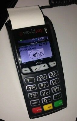 Ingenico iCT250 Wireless GPRS Credit Chip & Pin Card Machine & Docking Station