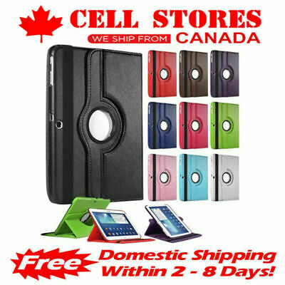 "360 Rotating Leather Stand Case Cover for Samsung Tab E 8.0"" T375 T377"