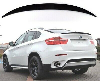 Bmw X6 E71 X6m M Performance Boot Trunk Lip Spoiler Gloss Black Plastic Uk