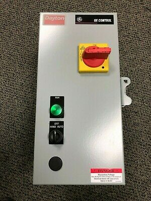 120VAC Selector Switch IEC Combination Starter, Amps AC: 11 to 16