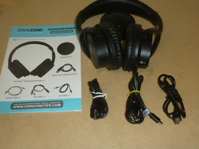 Sharper Image Own Zone Wireless Tv Headphones Bluetooth Rechargeable