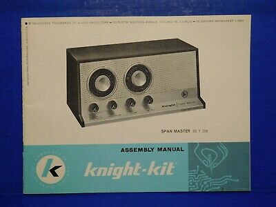 Vintage Instruction Owners Manual - Allied Knight Span Master Radio