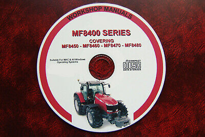 Massey Ferguson Mf8450 8460 8470 8480 Workshop Service Repair & Operators Manual