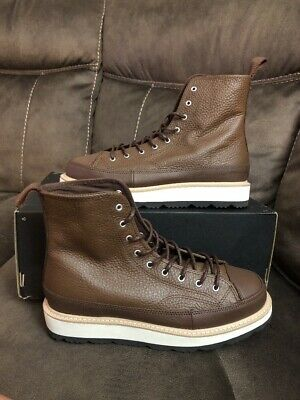2978396a8d45 Converse CT Crafted Boot HI Chocolate Leather Sz US 8 Men s 162354C Chuck  Taylor