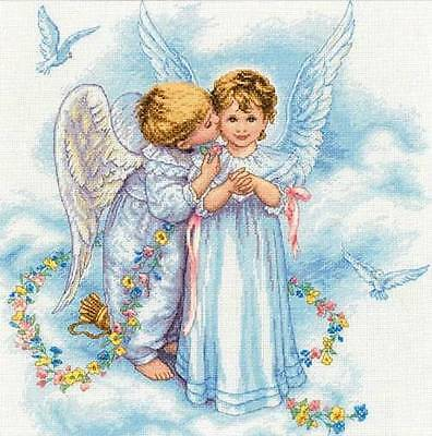 Little Kiss - Angel - Cross Stitch Chart - Digital Format