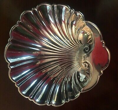 """Vintage Gorham Sterling Silver Shell Candy Nut Dish Bowl 5"""" Style 445"""
