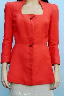 Thierry Mugler vintage red Linen jacket