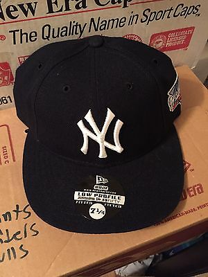 New York Yankees 2000 World Series Patch Low Profile Fitted Hat Cap 7 1 4 0c7f3e41bce