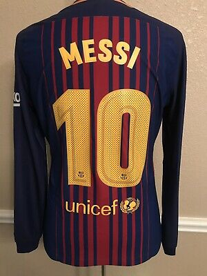 newest collection 32fc3 6ee35 BARCELONA SPAIN NIKE Messi Player Issue Liga Shirt Match Unworn Football  Jersey