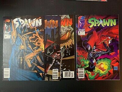 Spawn 1 Upc Newsstand 4 5 7 Lot F/vf Huge Sale Now