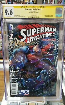 Superman Unchained #1 CGC SS 9.6 Jim Lee Signed