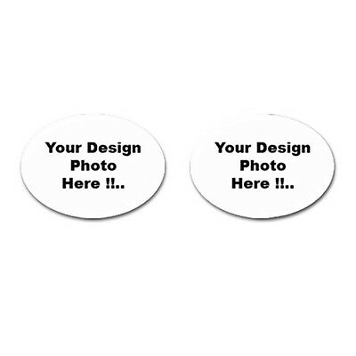 PERSONALIZED Custom Your LOGO Design PHOTO Text Cufflinks (Oval) FREE Shipping
