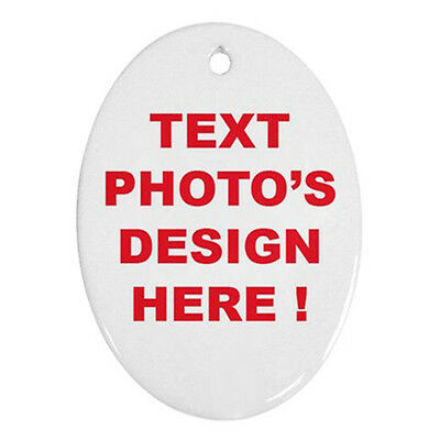 Personalized Custom Your Logo Design Photo Text Ornament (Oval) Free Shipping