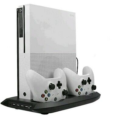 Lictin Xbox One S Vertical Stand Cooling Fan with Dual Charging Stationfor 2 Xb