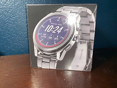 0e90d021641f MICHAEL KORS Access Silver Grayson Men s Touchscreen Smartwatch MKT5025  Sealed