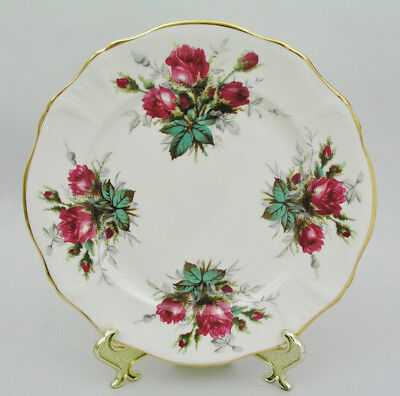"""Hammersley - Grandmother's Rose - 8"""" Salad Plate - Lyre Embossed - New Mint"""
