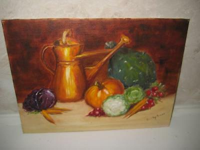 "Vintage Signed Original Oil Painting On Canvas Board ~ Dorothy Brown ~ 12"" X 9"""