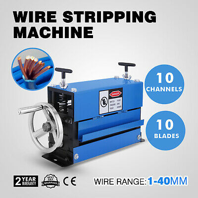 Manual Wire Stripping Machine 40mm 10 blades Recycle 10 Channels Industrial